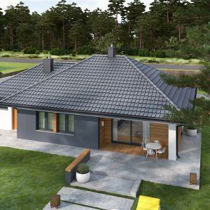 Prosta forma i konstrukcja to szybka i tania budowa, a także oszczędności podczas późniejszej eksploatacji. Dom Mini 1 G1. Projekt: arch. Artur Wójciak. Fot. Pracownia Projektowa Archipelag