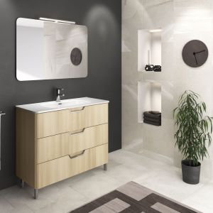 Nowoczesna łazienka: szare płytki ceramiczne. Kolekcja Ambientelife. Fot. Royo