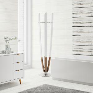 Nowoczesna łazienka: szare płytki ceramiczne. Kolekcja Artistic Way. Fot. Opoczno