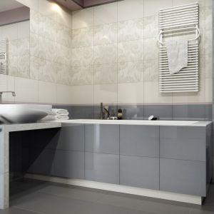Nowoczesna łazienka: szare płytki ceramiczne. Płytki Libretto. Fot. Ceramika Kwadro