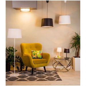 Lampa sufitowa Adam LED, lampa wisząca Maja, lampa podłogowa Maj, lampa stołowa Maja, dywan Canvas. Fot. Agata S.A,