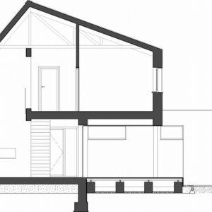 Przekrój domu. Fot. Beczak/Beczak/Architektci