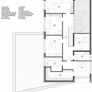 Rzut piętra. Fot. Beczak/Beczak/Architektci