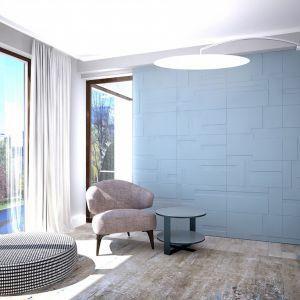 Panele architektoniczne Pulano z kolekcji Kvadro o trójwymiarowej fakturze. Wykonane z frezowanej płyty o gr. 16 mm wykończonej w kolorze białej satyny lub czarnego matu. Cena: 129 zł/szt, Pulano/Dekorian. Fot. Dekorian