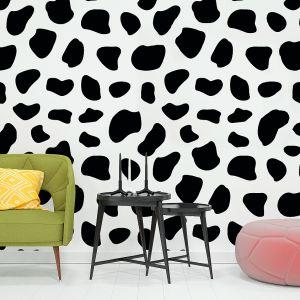 Kolekcja fototapet Into the Groove (proj. Magdalena Zięba) łączy styl inspirowany malarstwem Keitha Haringa z wirującymi geometriami wczesnych teledysków Madonny. Cena: 49 zł (naklejka Bezszwowe Tło 63x63 cm), Pixers. Fot. Pixers