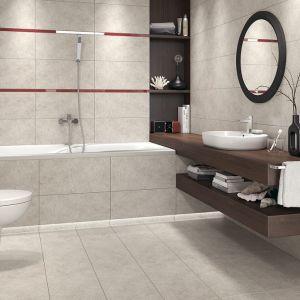 Aranżacja łazienki: piękna i praktyczna. Płytki Memories. Fot. Cersanit