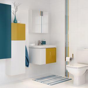 Aranżacja łazienki: piękna i praktyczna. Kolekcja mebli Colour. Fot. Cersanit