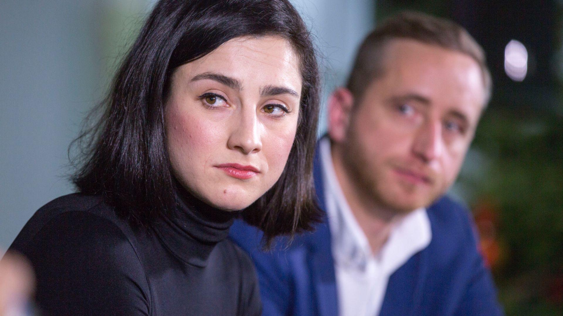 Joanna Misiun, Miłosz Matelski. V Forum Dobrego Designu. Sesja: Ewolucja wzornictwa. Czy ogranicza nas tylko wyobraźnia? Fot. Piotr Waniorek.