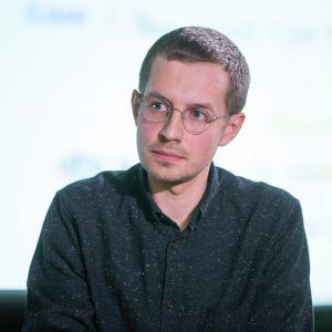 Nikodem Szpunar. V Forum Dobrego Designu. Sesja: Ewolucja wzornictwa. Czy ogranicza nas tylko wyobraźnia? Fot. Piotr Waniorek.