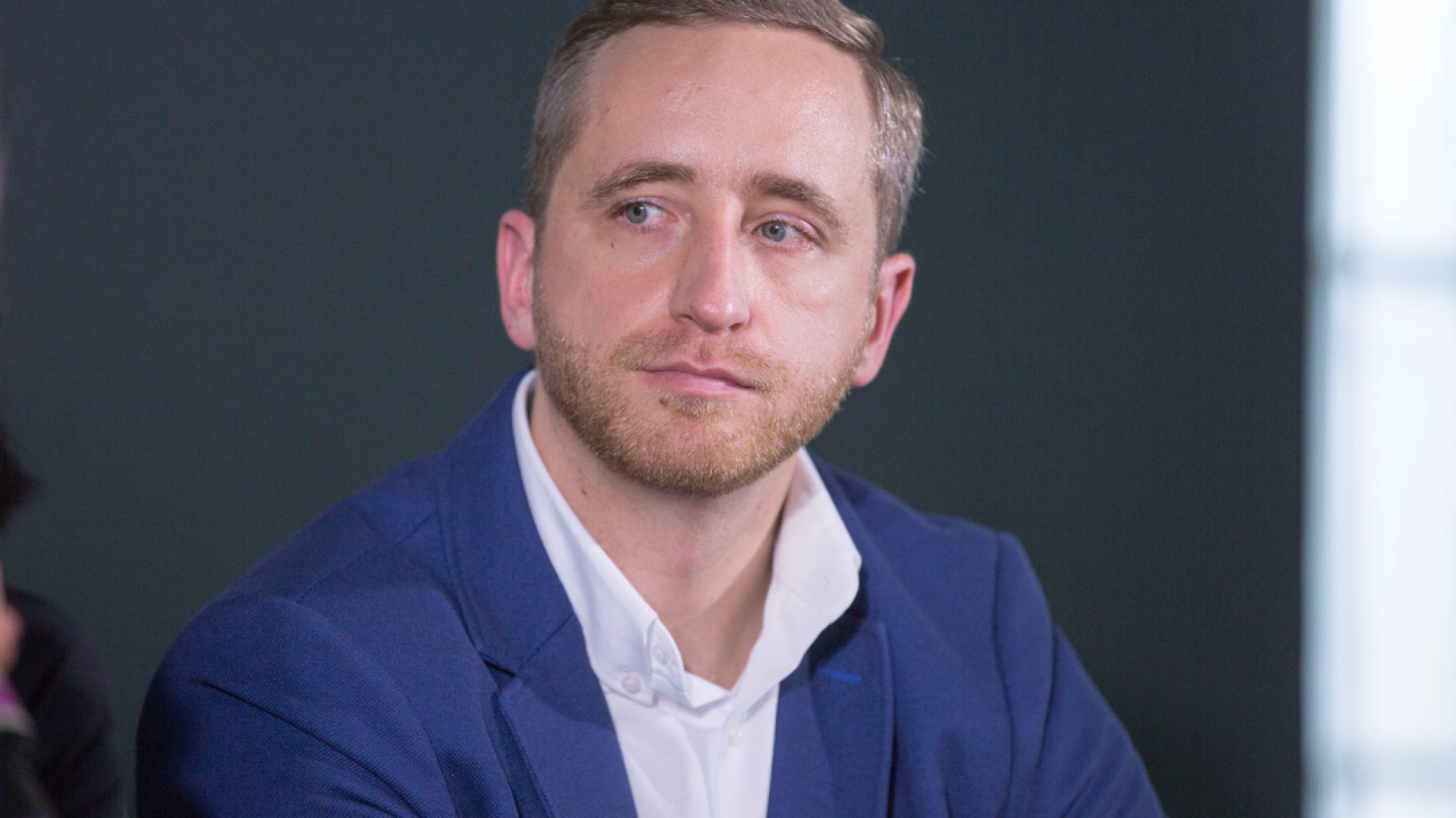Miłosz Matelski. V Forum Dobrego Designu. Sesja: Ewolucja wzornictwa. Czy ogranicza nas tylko wyobraźnia? Fot. Piotr Waniorek.