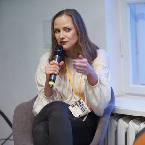Maria Szymańska, DaWanda. V Forum Dobrego Designu: Re-Design. W stronę zrównoważonej przyszłości. Fot. Tomasz Wawer.