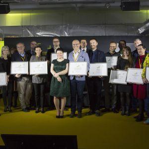Gala rozdania nagród Dobry Design 2018: wszyscy wyróżnieni. Fot. Paweł Pawłowski.