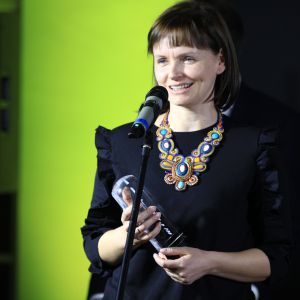 Nagrodę w kategorii Nowoczesne Technologie za platformę dla projektantów Cudo.co odebrała Joanna Zawicka - Founder & CEO Cudo.co