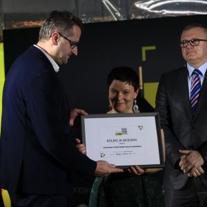 Wyróżnienie w kategorii Przestrzeń Pokoju Dziennego za kolekcję Modena firmy Poldem odebrał Marek Grabarz, dyrektor sprzedaży firmy Poldem.