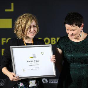 Wyróżnienie w kategorii Przestrzeń Łazienki zdobyła kolekcja Duo firmy Marmorin Design. Dyplom odebrała Aleksandra Malczewska, projektantka z Marmorin Design Studio.