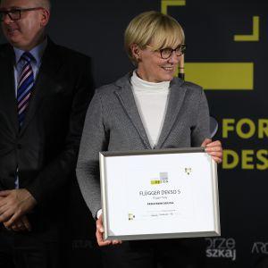 Wyróżnienie w kategorii Przestrzeń Dziecka zdobył produkt Flügger Dekso 5 firmy Flügger farby. Dyplom odebrała Małgorzata Undziłło - Country Manager Flügger Sp. z o.o.