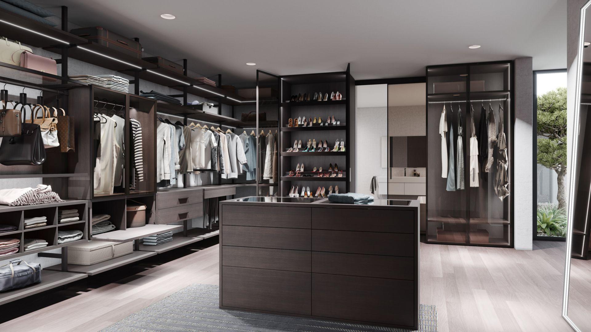 Garderoba Uno skonfigurowana w systemie mieszanym. Fot. Raumplus