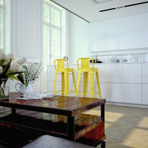 Szkło polimerowe w kuchni. Fot. Rehau