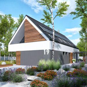 W projekcie zastosowano nowoczesne okna, a także zestaw energooszczędnych rozwiązań, dzięki którym budynek nie tylko oszczędza energię, ale jest również ekologiczny i tani w utrzymaniu. Dom EX 19 G2 Energo Plus. Projekt: Artur Wójciak. Fot. Pracownia Projektowa Archipelag