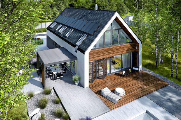 Nowoczesny dom: piękny projekt