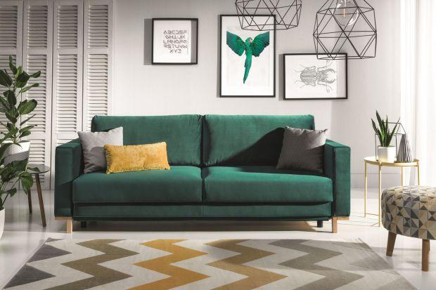 5 pomysłów na salon w ciemnej zieleni