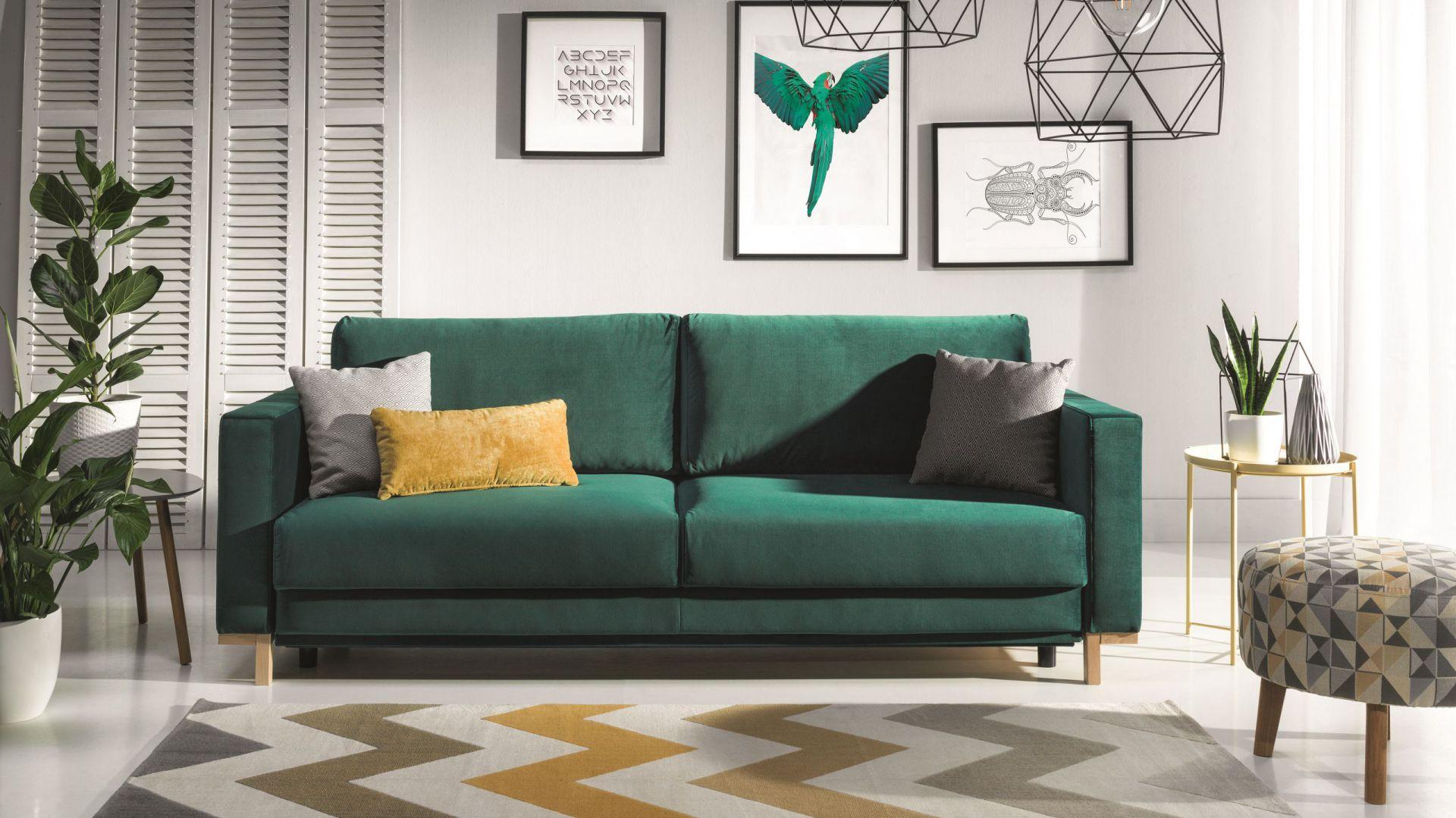 Kanapa Modo o nowoczesnym designie ma wygodne siedzisko i miękkie, przytulne oparcie. Od 2.413 zł. Fot. Wajnert Meble