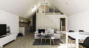Projekt niewielkiego wakacyjnego domu w stylu skandynawskim w Mechelinkach.