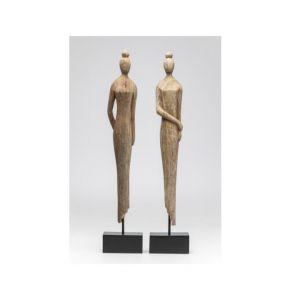 Smukła, eteryczna, pełna gracji figurka Madame Nature II to połączenie mocnej, stalowej podstawy z naturalnym, delikatnym drewnem. 199,20 zł. Fot. Kare Design