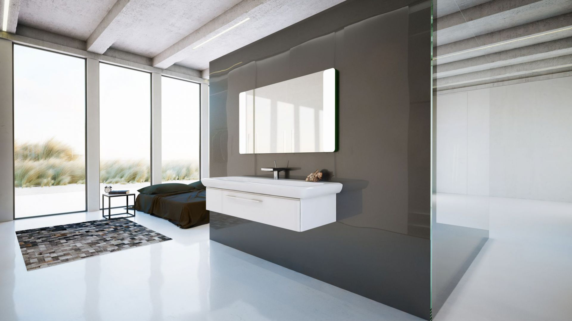 Aranżacja łazienki: wybierz minimalistyczne wnętrze. Fot. Koło
