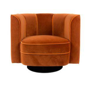 Stylowy, obrotowy fotel Lounge Flower w stylu vintage. Fot. Dutchbone