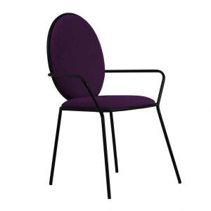 Krzesło Tulip Glam Velvet Violet- Black, 969,90 zł. Fot. Westwing
