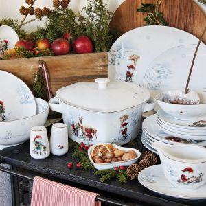 Kolekcja porcelany Santa Christmas dekorowana pięknymi ilustracjami świątecznych krasnali. Fot.  Fyrklövern