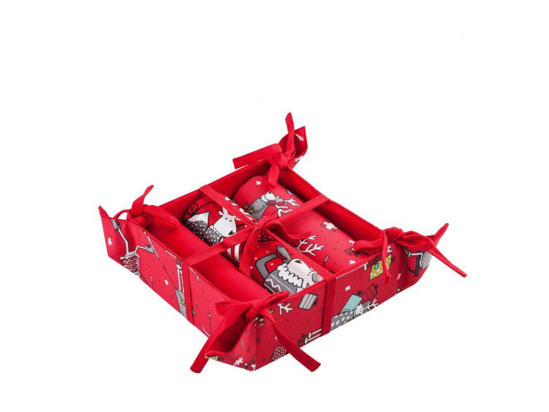 Koszyk i ścierki Deerlove to zestaw z uroczą parą świątecznych reniferów. 69 zł. Ft. Home&You