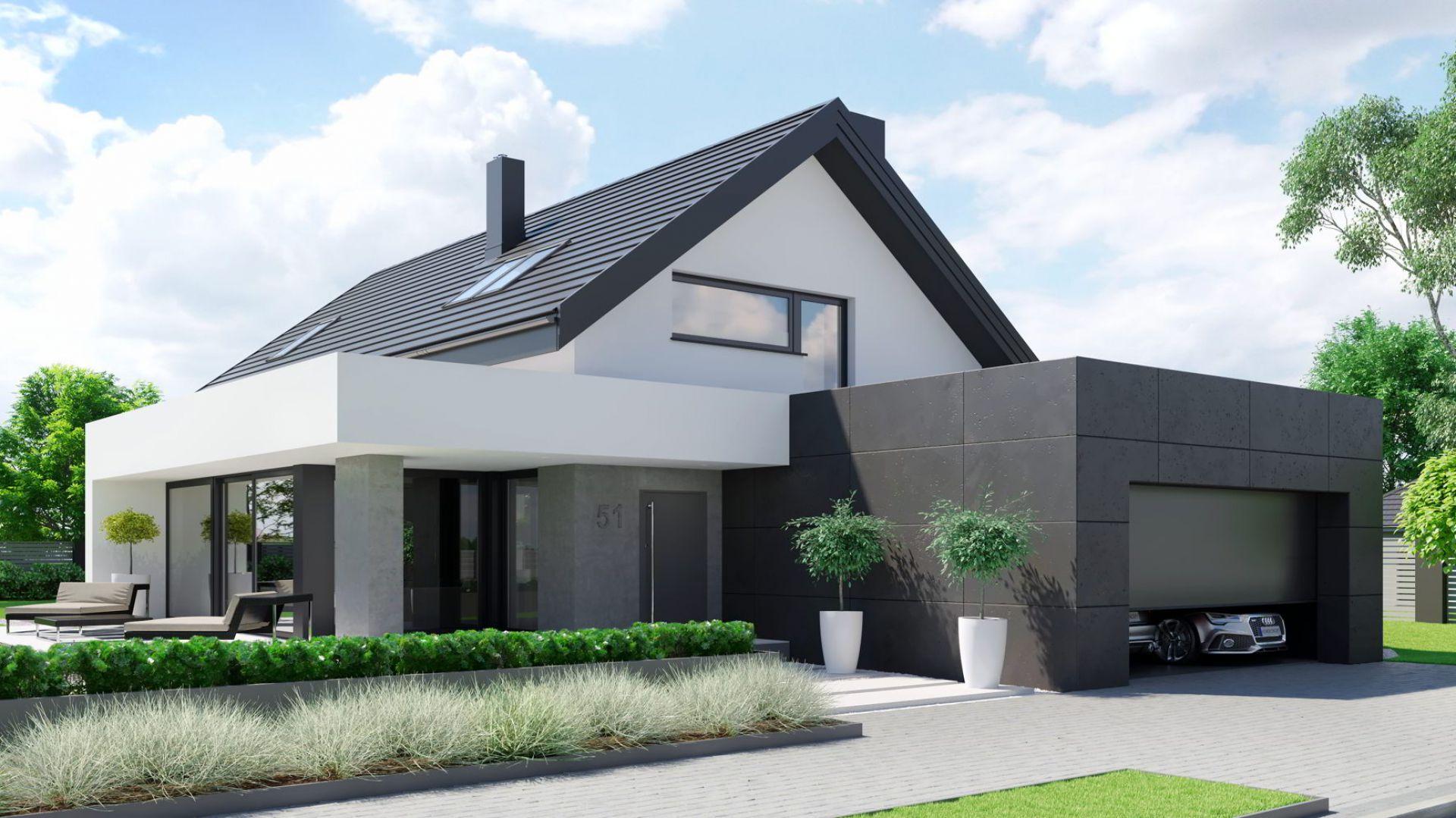 Dom to doskonała propozycja dla wielbicieli nowoczesnych rozwiązań projektowych oraz funkcjonalnych i ponadczasowych wnętrz.Dom HomeKONCEPT 51. Projekt i zdjęcia: Zespół Projektowy HomeKONCEPT