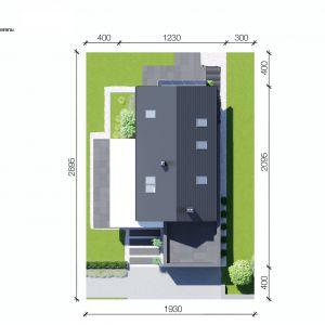 Usytuowanie domu na działce. Dom HomeKONCEPT 51. Projekt i zdjęcia: Zespół Projektowy HomeKONCEPT