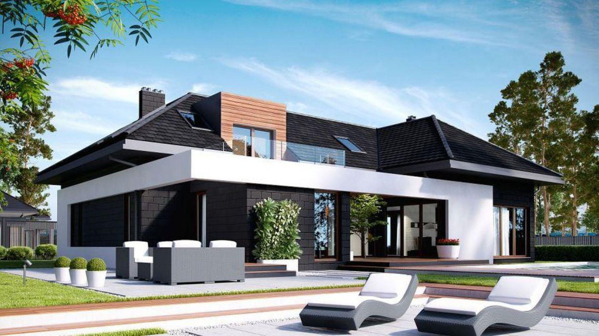 Pokrycie dachowe w nowoczesnym domu. Projekt: HomeKoncept
