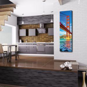 Grzejniki do kuchni i jadalni. Grzejnik Niagara z osłoną z grafiką. Fot. Luxrad