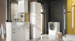 """Wielu z nas, zwłaszcza tych mieszkających w blokach, nie ma pomieszczenia gospodarczego, które mogłoby zaadaptować na pralnię. Wówczas pralka """"ląduje"""" najczęściej w łazience. Zobaczcie nasze pomysły na aranżacje łazienki z pralką."""