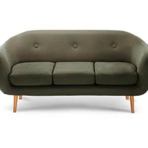 Sofa 3-osobowa Stella Vert Olive z kolekcji francuskiej projektantki Stelli Cadente. 1.699,90 zł. Fot. Westwing