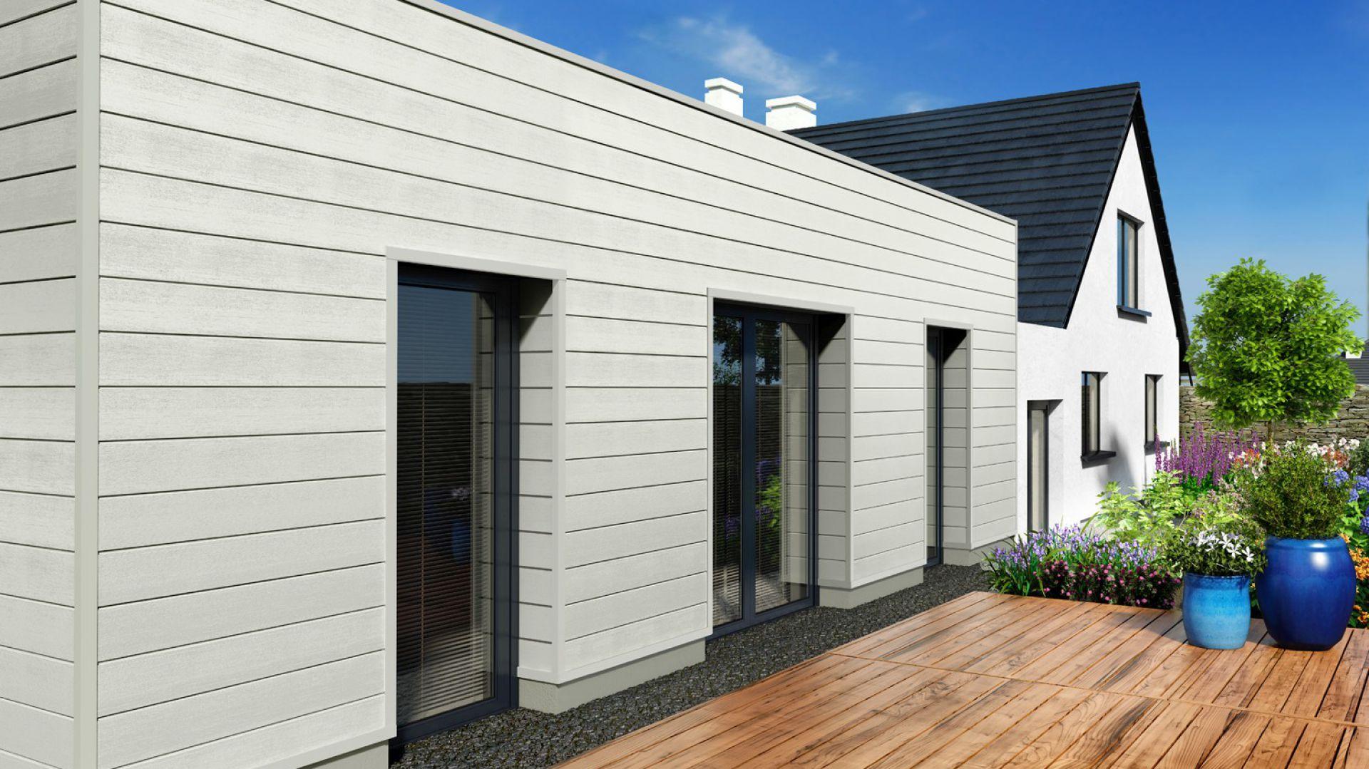 Elewacja domu w zgodzie z naturą: Kerrafront Modern Wood. Fot. Vox