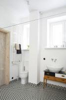 Toaleta. Projekt: arch. wnętrz Ewelina Pik, Modullar. Fot. Bartosz Jarosz