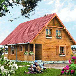 Piękny drewniany dom sprawdzi się jako mieszkanie całoroczne, jak również jako dom letniskowy. Projekt: arch. Tomasz Sobieszuk. Fot. Biuro Projektów MTM Styl