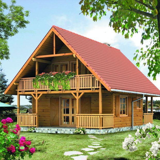 Dom z drewna: zobacz ciekawy projekt i wnętrza