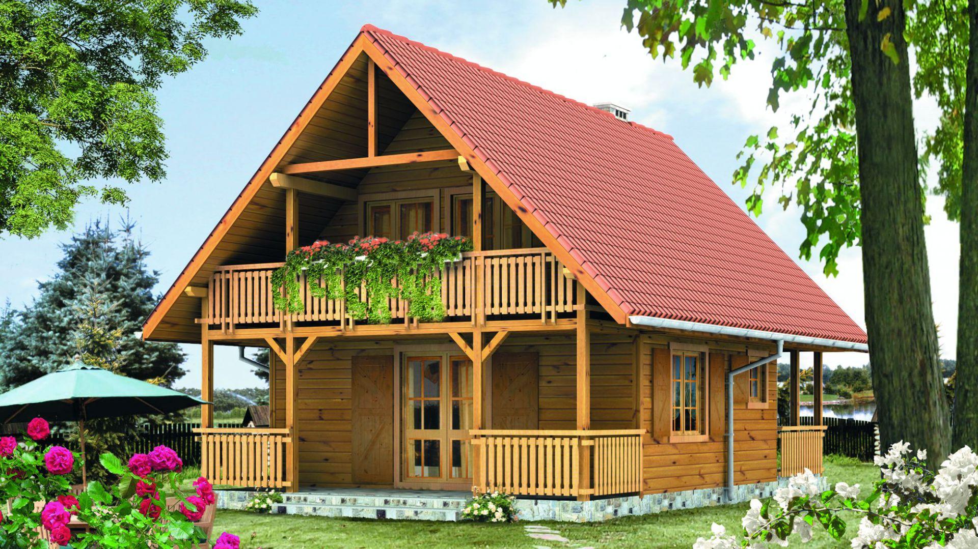 Zadaszony taras i balkon pozwolą cieszyć się wypoczynkiem na świeżym powietrzu. Projekt: arch. Tomasz Sobieszuk. Fot. Biuro Projektów MTM Styl