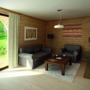 Drewno jest ważnym elementem wykończenia domu. Projekt: arch. Tomasz Sobieszuk. Fot. Biuro Projektów MTM Styl