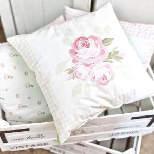 Poduszka dekoracyjna w stylu shabby chic. Fot. Franc Gardiner