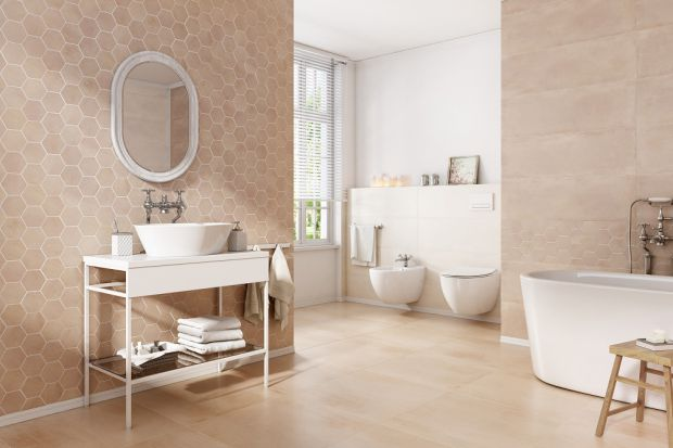 Jasna łazienka - płytki w barwach lata