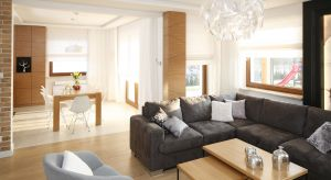 Salon połączony z jadalnią to idealne wnętrze do rodzinnych spotkań i podejmowania gości. Jak je urządzić? Zobaczcie pomysły architektów.