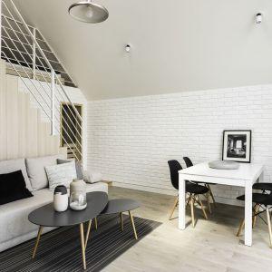 Salon z jadalnią. Projekt: Anna Maria Sokołowska. Fot. Foto&Mohito