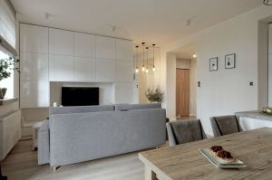 Niewielkie mieszkanie w Pile. Projekt: ewem Aranżacja wnętrz Edyta Wełnicka